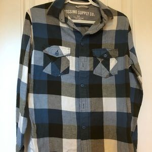 Mossimo Supply Co Plaid Flannel Long Sleeve Shirt